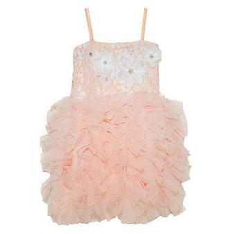 Sweet Peachy Cora Ruffle Bottom Dress