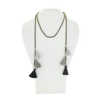 Multi-Tassel Wrap Necklace