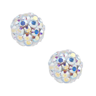 Aurora Crystal Pave Ball Post