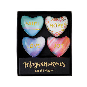 Magnanimous Gift Set-C - Faith Hope Love - Set Of 4 Magnets