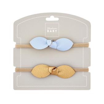 Headband Set - Blue & Gold