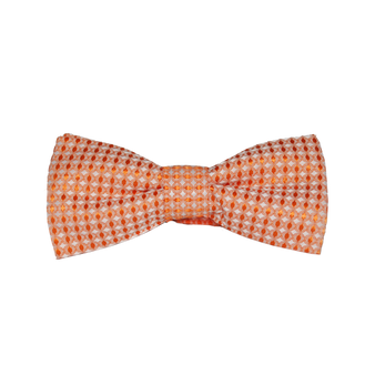 Diamond Print Silk Bowties - Orange