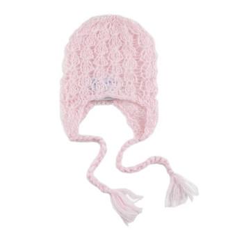 """""""Lacey"""" Mohair Bonnet -Pink"""
