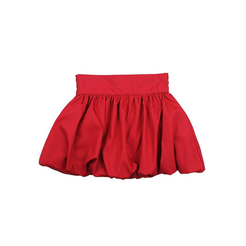 Ruffle Butts Red Sateen Party Skirt