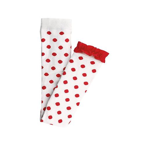 Ruffle Butts Red Polka Dot Footless Ruffle Tights