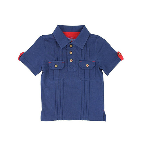 Rugged Butts Navy 2-Pocket Polo