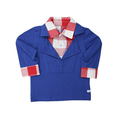 Rugged Butts Red Gingham Prep School Pullover
