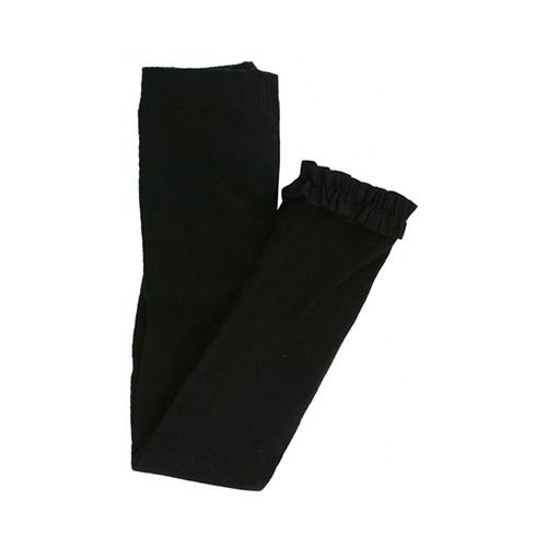 Ruffle Butts Black Footless Ruffle Tights