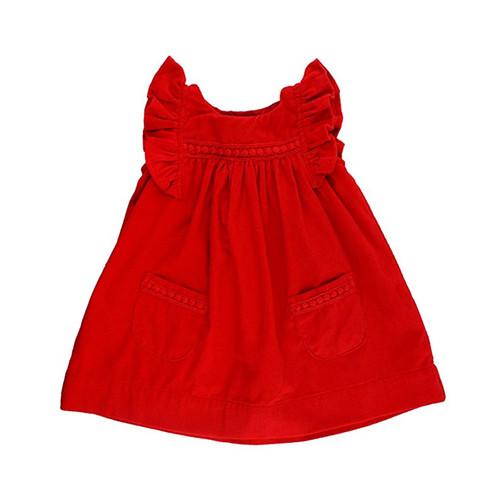 Ruffle Butts Red Corduroy Jumper Dress
