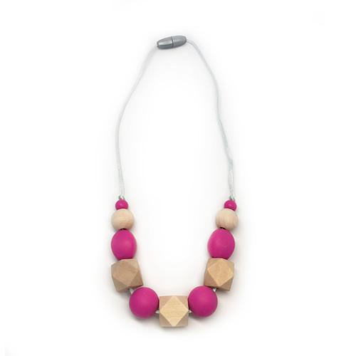 Stardust Generation Girls The Petite Regent Necklace In Fuchsia