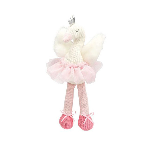"Elegant Baby 10"" Swan Knittie Bittie Toy"