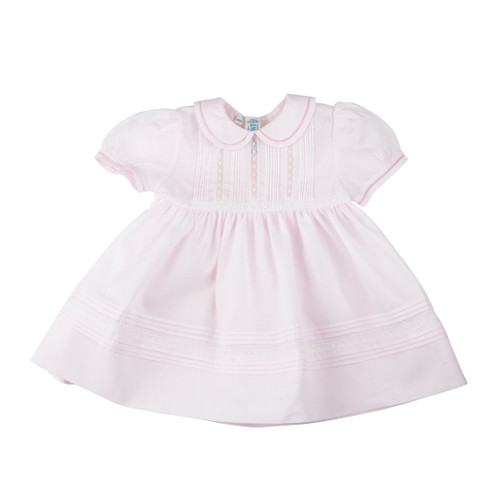 Feltman Brothers Pink Pintucks And Lace Dress