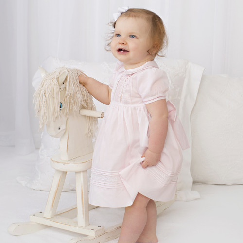 3451cc595 ... Feltman Brothers Pink Pintucks And Lace Dress. Size: Choose Options, 12  Months, 18 Months, 24 Months