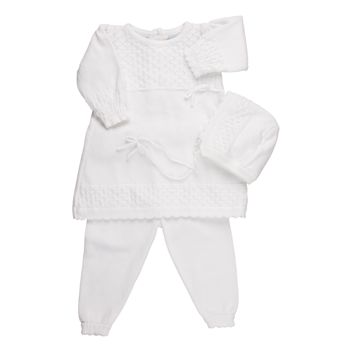 Feltman Brothers White Newborn & Special Occasion 2 Piece Sweater Set
