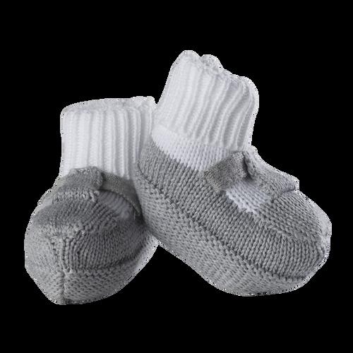 Feltman Brothers Boys Grey Knit Mocked Booties