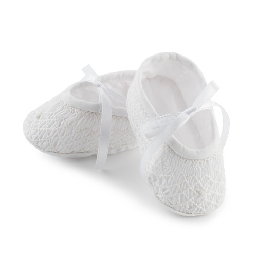 Feltman Brothers White Smocked Bootie