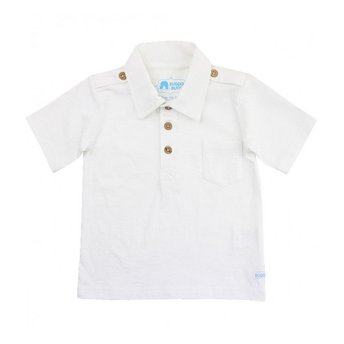 Rugged Butts White 1-Pocket Polo