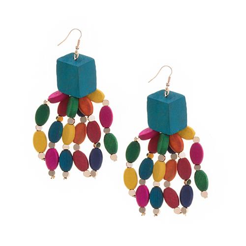Multi-Color Fringe Earrings
