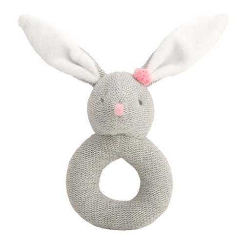 Lil' Wanderers Ring Rattle - Bunny