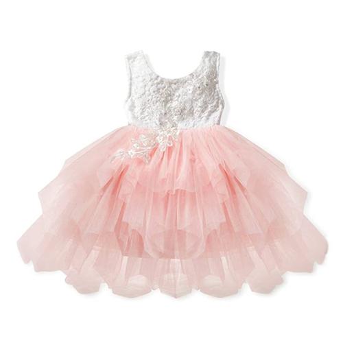 Veronica Soft White Eyelash Lace Tutu Dress