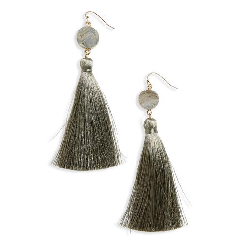 Sunstone Tassel Duster Earrings