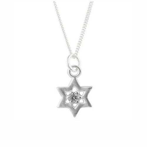 CZ Star of David Necklace
