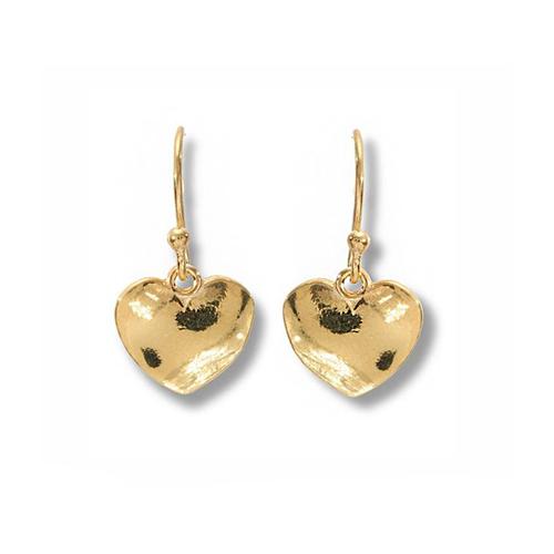 Gold Organic Heart Earring
