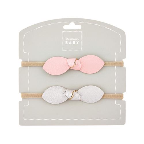 Headband Set - Pink & Silver