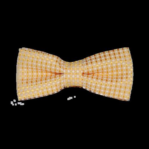 Diamond Print Silk Bowties - Yellow