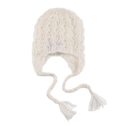 """Lacey"" Mohair Bonnet - Ivory"