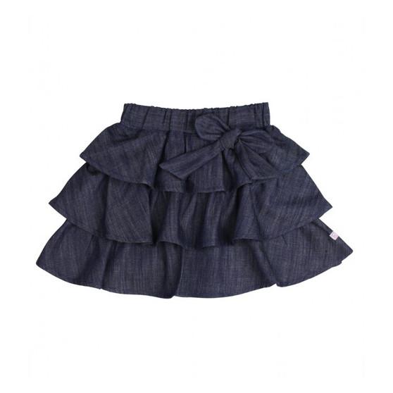 Ruffle Butts Ruffled Denim Bow Skirt