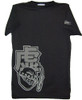 Bleach T-Shirt Hollow Discharge Print (Vintage Black)