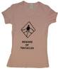 Beware of Tentacles Babydoll T-Shirt (Pink)