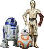 Star War C-3PO, R2-D2 and BB-8 3pk ArtFX+ Statues