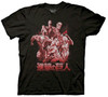 "Attack On Titan T-Shirt 4 Titans ""Black)"