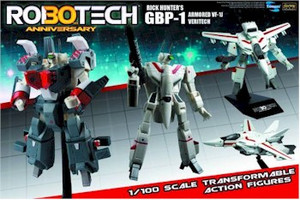 Robotech 1/100 Transformable - Rick Hunter VF-1J with GBP-1