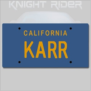 Knight Rider Replica 1/1 KARR License Plate