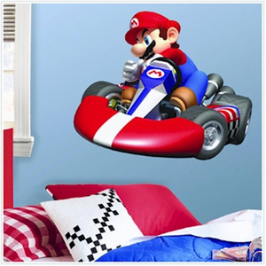 Super Mario Bros. Mario Kart Giant Wall Decals