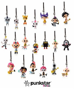 Tokidoki Punkstar Frenzies Zipper Pull Phone Charm Blind Box