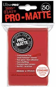 Ultra Pro Pro-Matte Sleeves Standard - Red (Matte)