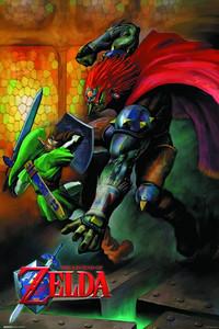 Legend of Zelda Poster - Link vs Ganondorf