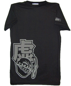 Bleach T-Shirt Hollow Discharge Print (Vintage Black)