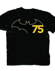 DC Heroes T-Shirt: Batman 75th Anniversary Logo (Black)