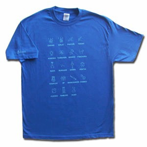 Japanese Bad Words T-Shirt (Royal Blue)