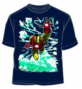 Marvel Comics T-Shirt Iron Man Rockets (Navy)