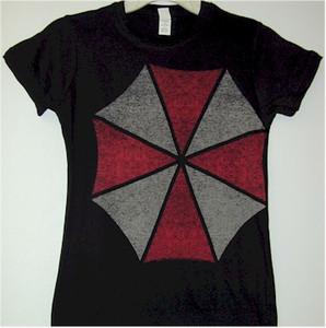 Resident Evil Babydoll T-Shirt Large Umbrella Logo (Black)