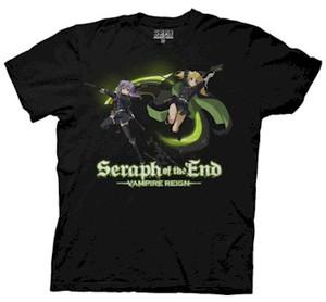 Seraph of the End T-Shirt Shinoa & Mitsuba Battle
