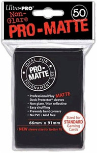 Ultra Pro Pro-Matte Sleeves Standard - Black (Matte)