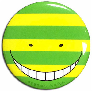 Assassination Classroom Button Pin - Koro Sensei Mock