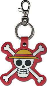 One Piece PU Leather Keychain - Strawhat Pirates Logo